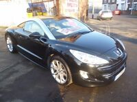 Peugeot RCZ GT,1598 cc Coupe,6 speed manual,full heated electric leather interior,FSH,only 44,000