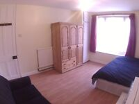 VERY Large Double Room (Ex Living Room) / Bow Area, ZONE 2 / All Bills Inc / Available NOW !!!