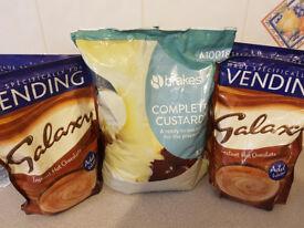 GALAXY hot chocolate (3kg) & Custard mix (3.5kg)