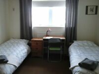 Large Twin room available from 15th April
