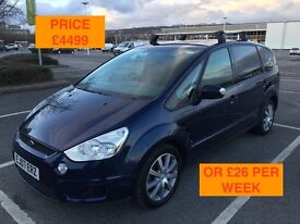 2007 FORD S-MAX ZETEC TDCI 6 SPEED / NEW MOT / PX WELCOME / FINANCE AVAILABLE / 7 SEATS / WE DELIVER