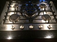 Stainless Steel Miele 5 Burner Gas Hob For Sale - KM 2034/2045