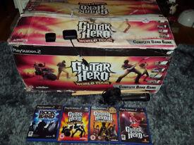 Guitar Hero World Tour Band Hero Drum Kit Drums Game Bundle USB Dongle PS2