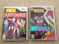 Nintendo Wii Game Just Dance & Just Dance 3 Limited Edition