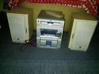JVC silver mini hi-fi