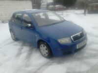 2005 SKODA FABIA 1.2 5 DOOR WITH JUST 86,000 MILES FROM NEW AND A FULL 12 MONTHS MOT, CLEAN CAR
