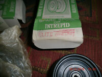 Vintage Fishing 3 Reel Spare Spools, Intrepid Reel – 1950's ? Two boxed, all excellent condition.