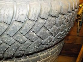 "Autocross autograss knobblies, pair , new on vw alloys, 13"" £60 pair"