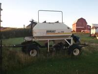 Tractor with Air Seeder PLUS Seed applicator - Bourgault