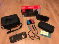 Nintendo Switch + Extra Joycons + Accessories