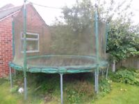 12 ft TP trampoline with safety net