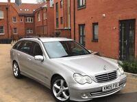 Mercedes-Benz C Class 2005 C220 CDI Sport ESTATE ** DIESEL ** AUTOMATIC ** BLACK LEATHER SEATS **