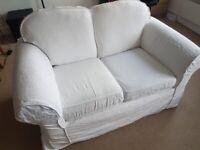 2 seater white sofa