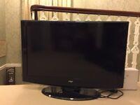 "Television: F&H 37"" flat screen"