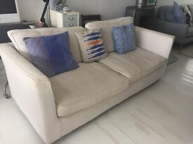 Sofa Workshop Harry 3 Seater Sofa with Removeable Cotton Covers