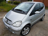 2003 MERCEDES A-CLASS. 1.6L PETROL. LOW MILEAGE. FULL MOT. PART EX BARGAIN!!!!