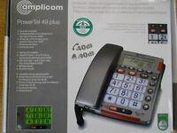 AMPLICOM TELEPHONE BIG BUTTON KEYPAD BOXED