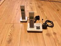 Binatone cordless telephones with dual handset and answering machine