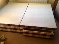 Free .. King Size divan base with two drawers