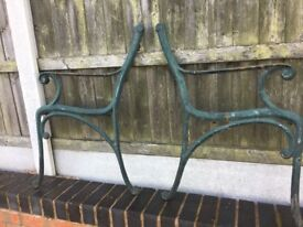 Cast Iron Garden Bench Ends For Self Build- 2 sets available
