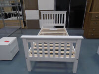 Brand New High Foot End Or Low Foot End Single Bed In White Or Grey. Can Deliver