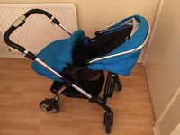 Sliver cross pram