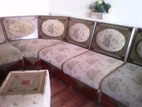 8 piece moroccan sofa corner Good Condition is £90