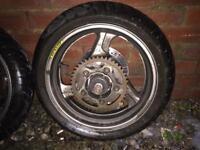 Honda bike parts exhaust & tyres