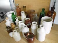 Various old jars, pots and bottles