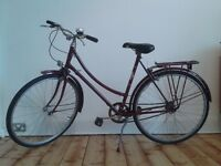 RALEIGH CAMEO 1970s Town Bike Bicycle Sturmey Archer 3 Speed Burgundy