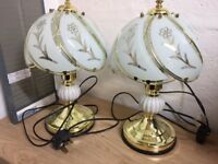 2x touch bedside table lamps