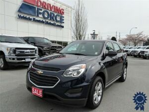 2016 Chevrolet Equinox LS 5 Passenger All Wheel Drive, 2.4L Gas