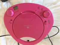 Philips pink portable CD player