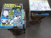 RECORD COLLECTOR magazines - 60 issues from Issue 106 (June 1988) to 226 (June 1998)