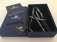 SWAROVSKI - NECKLACE - 3 tier - delicate shades of green - retired
