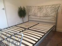 Standard double bed+Sleepeezee mattress.