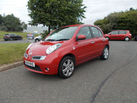 NISSAN MICRA N-TEC TOP OF THE RANGE STUNNING RED 2009 FULL MOT BARGAIN ONLY 1950 *LOOK* PX/DELIVERY