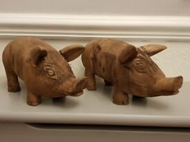 Hand Crafted Wooden Pigs Brand New in Boxes £10.00 each