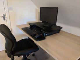 Varidesk Pro Plus 36 - sit to stand desk top conversion