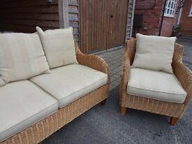 Colonial style rattan sofa