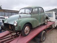1963 morris minor for restoration,almost complete and had running