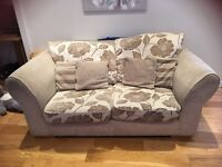 2 Two Seater Sofas and Storage Footstool