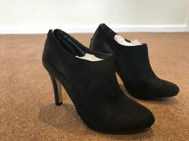Dune opera black micro fibre boots size 3/36