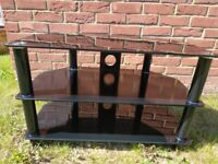Glass TV stand in good condition for pick up