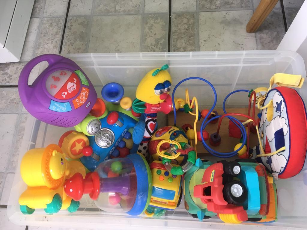 Box of toddler toysin Weymouth, DorsetGumtree - Over 10 toddler items vtech all working. Clean condition suit 6 months 2years