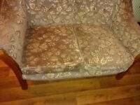Small fabric sofa - cottage style