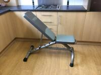 York multi position fitness bench. £50.00 Ono