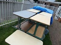 Quality 4' Dining Tables Formica with Metal Legs Industrial - Around 60 Available UK Delivery