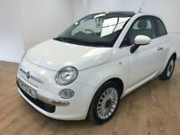 FIAT 500 1.2 LOUNGE 3d 69 BHP £30 ROAD TAX (white) 2012