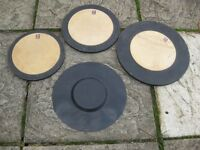 Drums - Set of 4 Drum Silencers / Practise Pads - Premier - Snare and Toms
